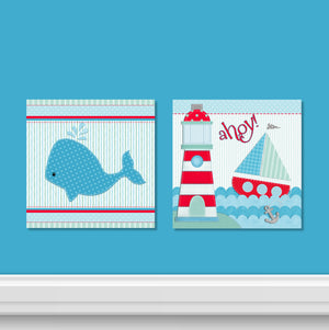 Ahoy! 2 PC Canvas Wall Art Set