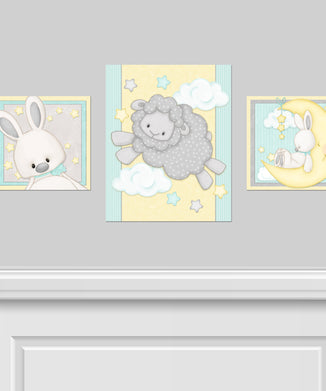 Sweet Dreams 3PC Canvas Wall Art Set