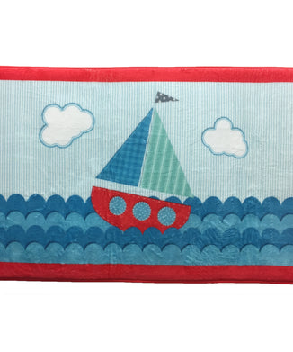 Ahoy Sailboat Floor Mat