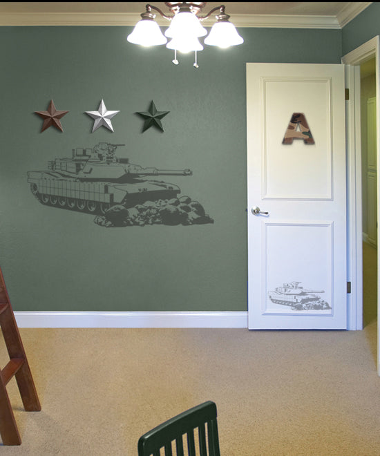 Camo Tank Sudden Shadow Wall Decal