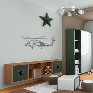Camo Helicopter Sudden Shadow Wall Decal
