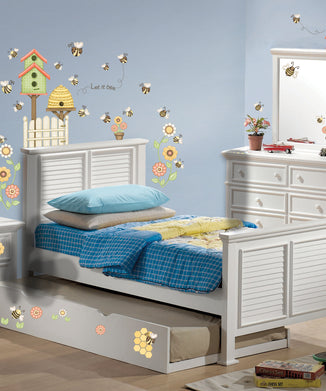 Let it Bee Happy Wall Decals