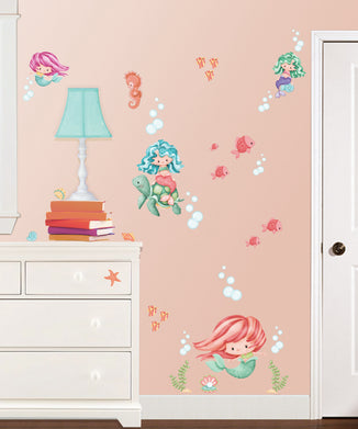 Magical Mermaids Wall Decals