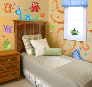 Monster Splat Wall Decals