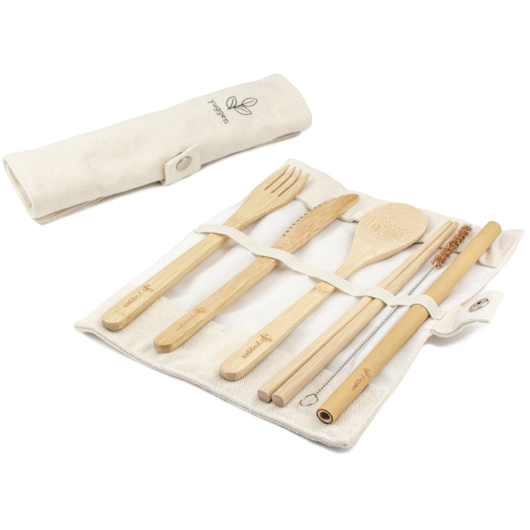 Reusable Bamboo Cutlery Travel Set - Yuggen #Bethechange