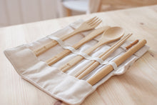 Load image into Gallery viewer, Reusable Bamboo Cutlery Travel Set