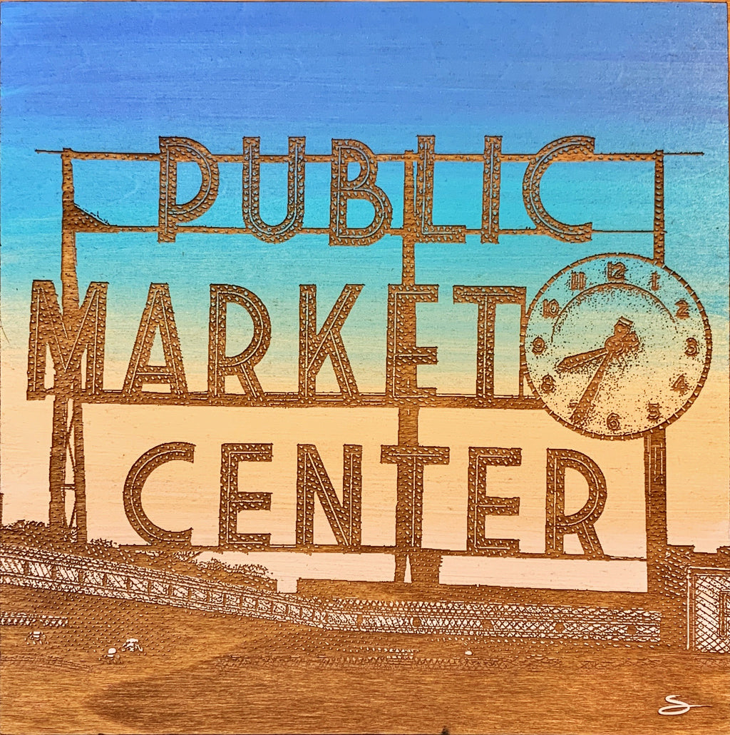 """Market Clock"" - Scott At Pike"