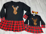 Mommy and Me Sequin Reindeer Tops