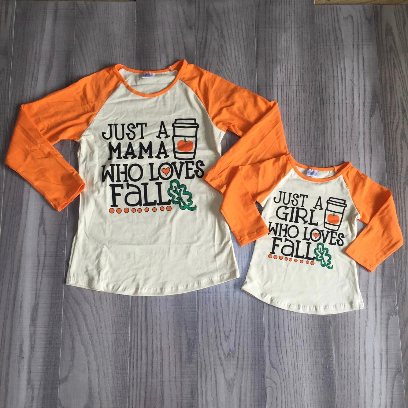 Mommy & Me Fall Lovers Long Sleeve Raglan