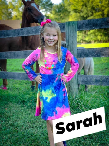 Sarah Tie Dye Twirl Dress