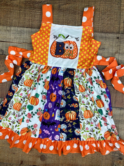 Halloween Pumpkin Panel Dress