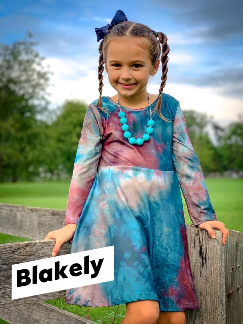 Blakely Tie Dye Twirl Dress
