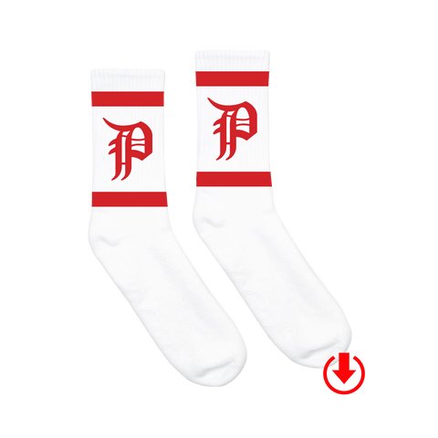 P Logo Socks + Digital Album