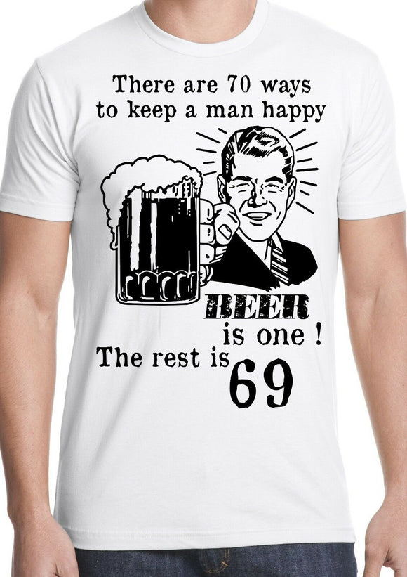 Funny t-shirt beer man sex joke