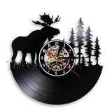 Forest Deer Man Cave Clock