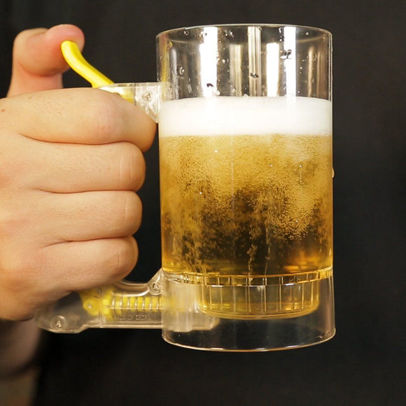 Beer Glass With Bubble Foamer
