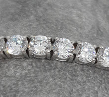 Load image into Gallery viewer, Silver Tennis bracelet