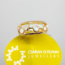 Load image into Gallery viewer, 9ct yellow gold opal ring