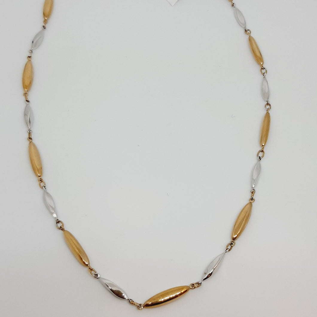 9ct Yellow and White Gold Necklet