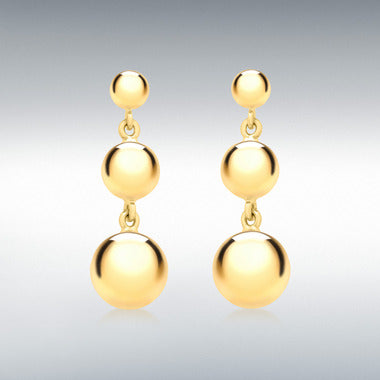 9ct yellow gold drop earring