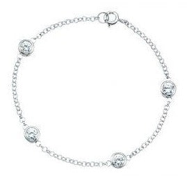 Rubover 5mm Clear cz bracelet