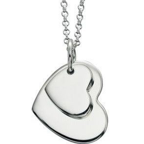 Double Heart Tag PENDANT