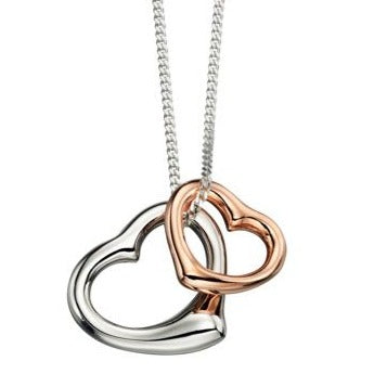 ROSE GOLD Plated Double Heart