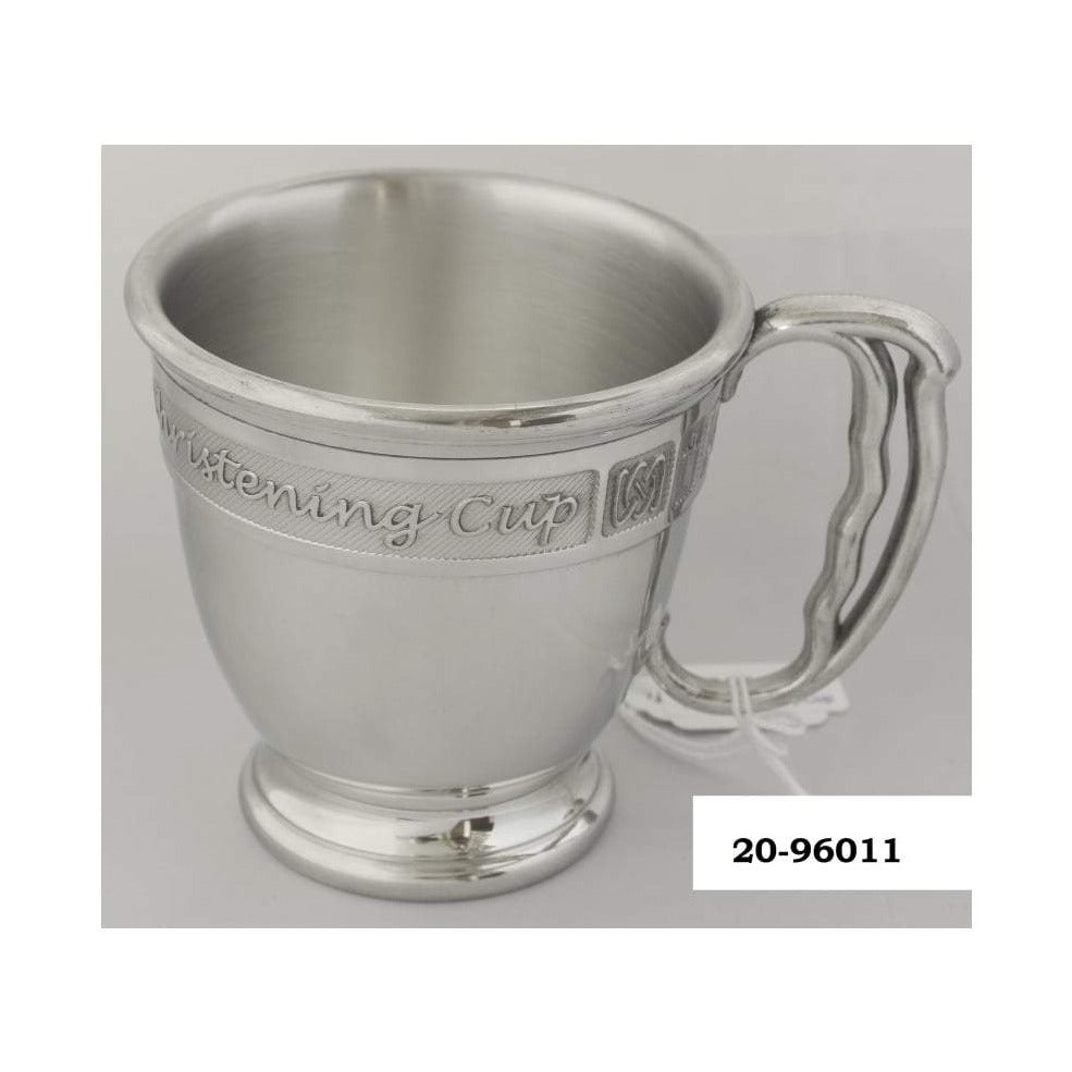 Pewter Baby Cup with Christening Logo