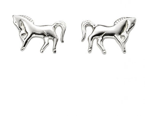 Silver Horse Stud Earrings
