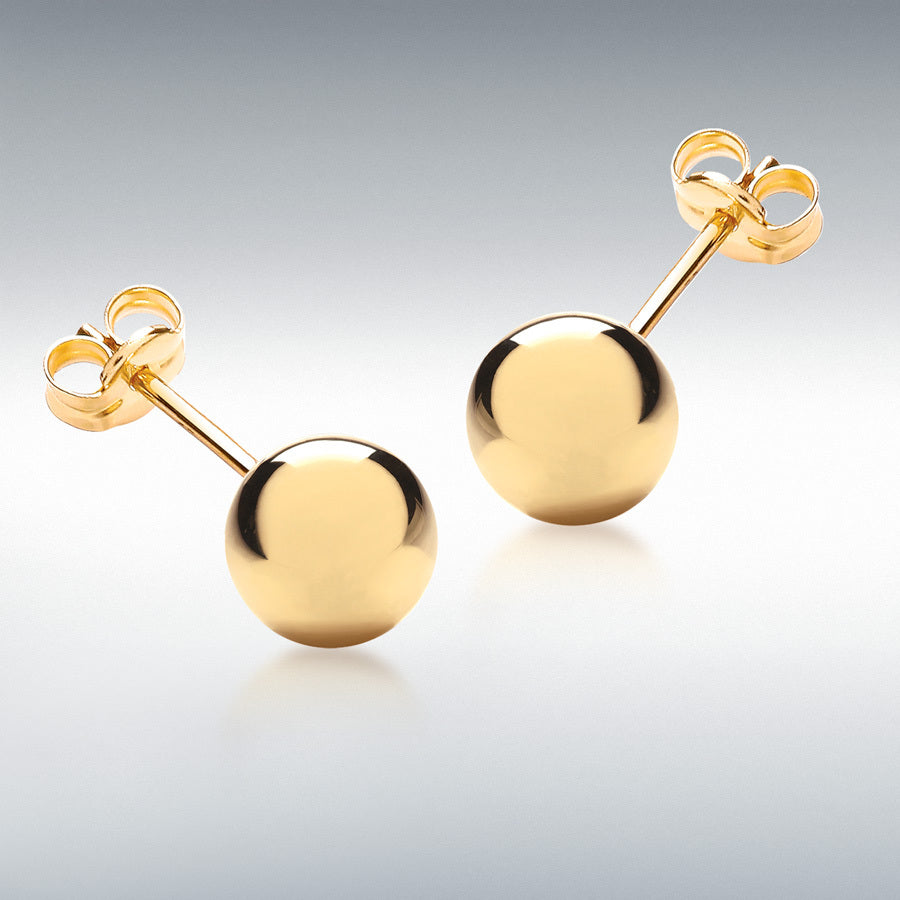 YELLOW GOLD 12MM BALL STUD EARRING