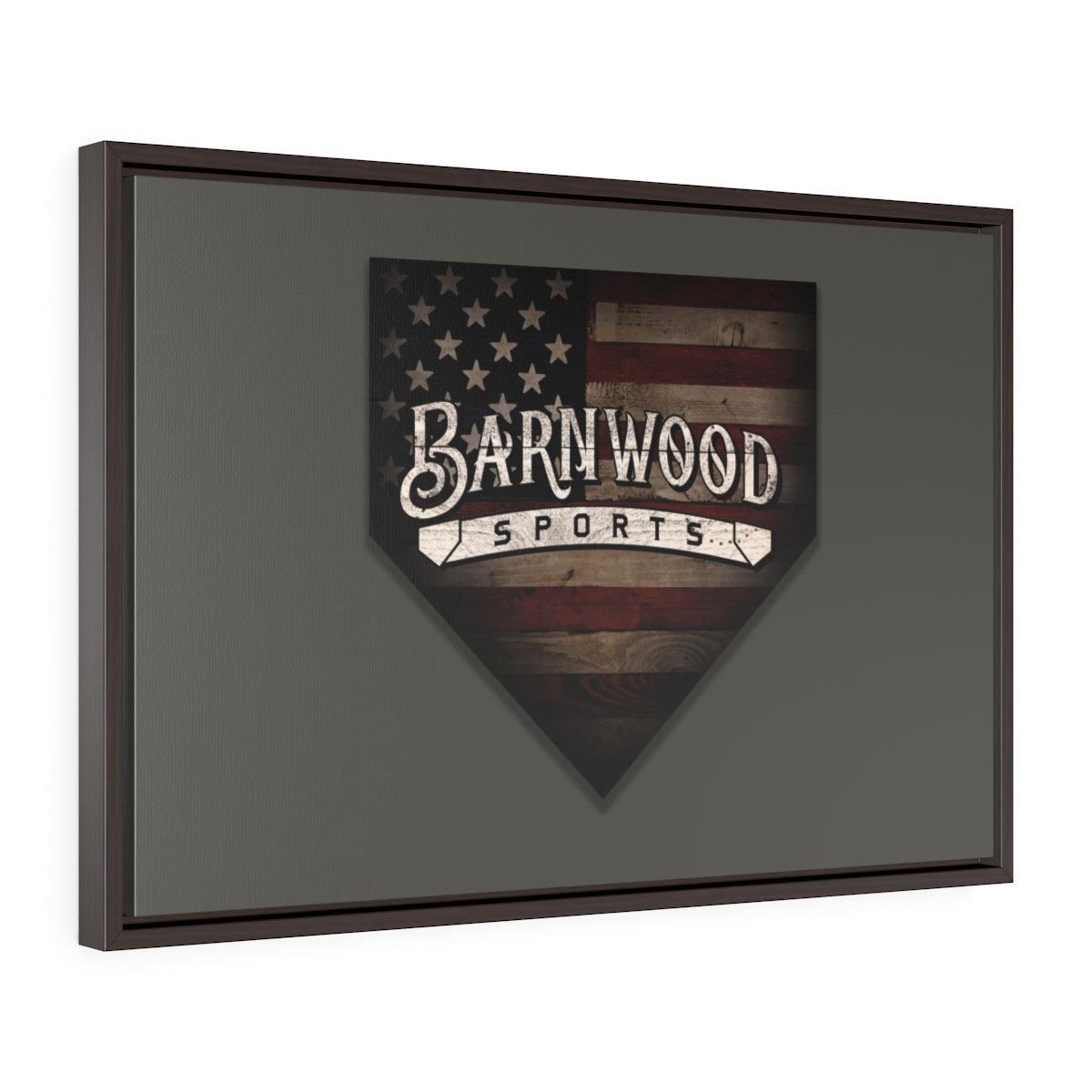 Barnwood Sports Framed Wrapped Wall Canvas