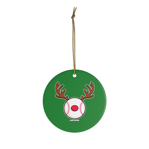 RedNoze Baseball Christmas Tree Ornament