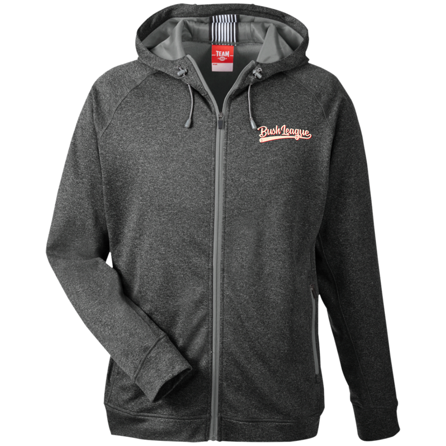 Bush League Men's Heathered Performance Hooded Jacket
