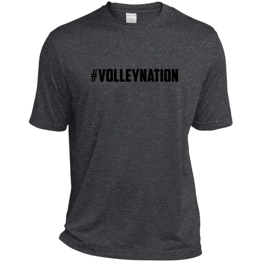 #VolleyNation (Black) Heather Dri-Fit Moisture-Wicking T-Shirt