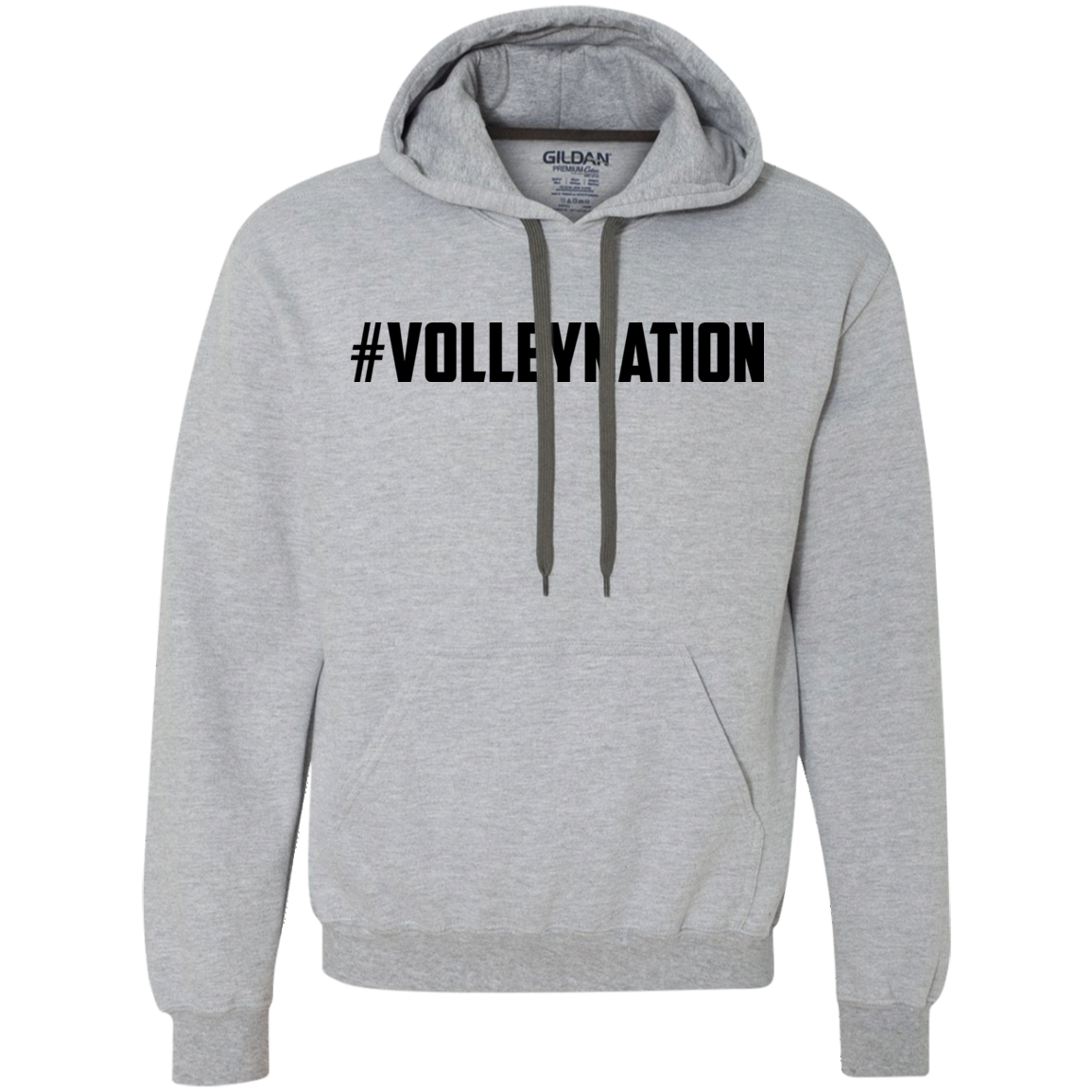 #VolleyNation (Black) Heavyweight Pullover Fleece Sweatshirt