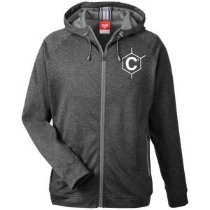 HEXA C2 Men's Heathered Performance Hooded Jacket