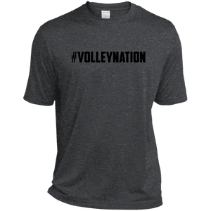 #VolleyNation (Balck) Tall Heather Dri-Fit Moisture-Wicking T-Shirt