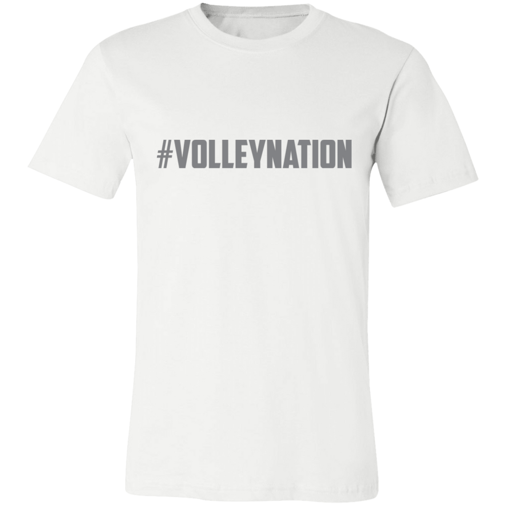 #Volley Nation (Grey) Jersey Short-Sleeve T-Shirt