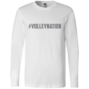 #VolleyNation(Grey) Men's LS Tee
