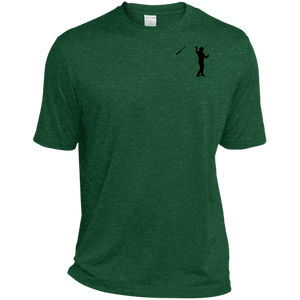 Bat Flip (Black) Tall Heather Dri-Fit Moisture-Wicking T-Shirt
