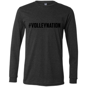 #VolleyNation(Black)  LS Mens Tee