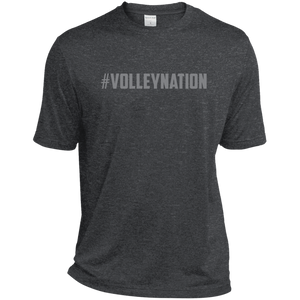 #VolleyNation (Grey) Tall Heather Dri-Fit Moisture-Wicking T-Shirt