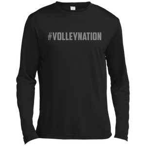 #VolleyNation (Grey) Tall Long Sleeve Moisture Absorbing T-Shirt