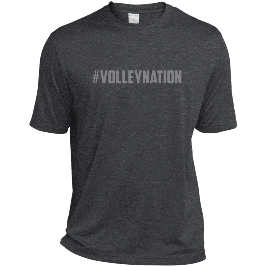 #VolleyNation (Grey) Heather Dri-Fit Moisture-Wicking T-Shirt