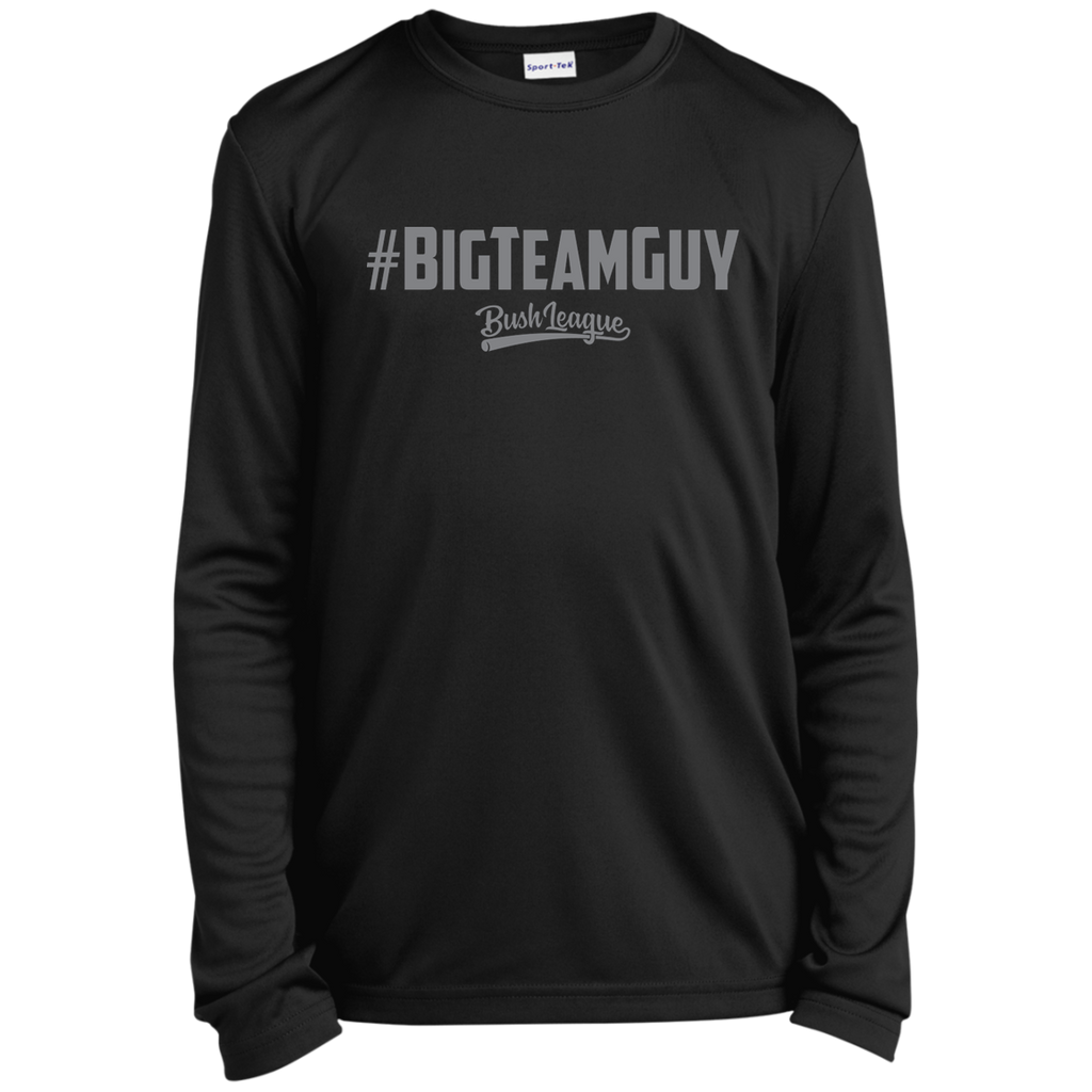 #BIGTEAMGUY Signature Youth Long Sleeve Moisture-Wicking T-Shirt