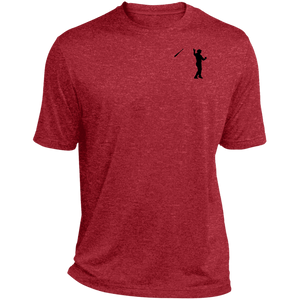 Bat Flip (Black) Heather Dri-Fit Moisture-Wicking T-Shirt