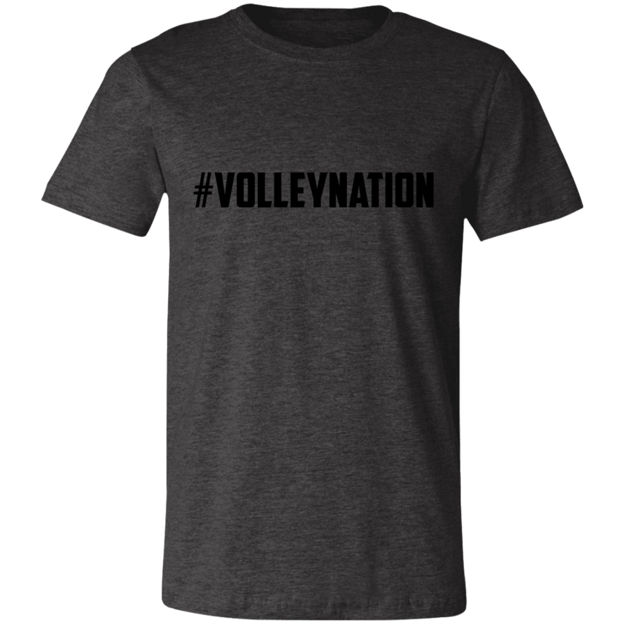 #VolleyNation (Black) Jersey Short-Sleeve T-Shirt