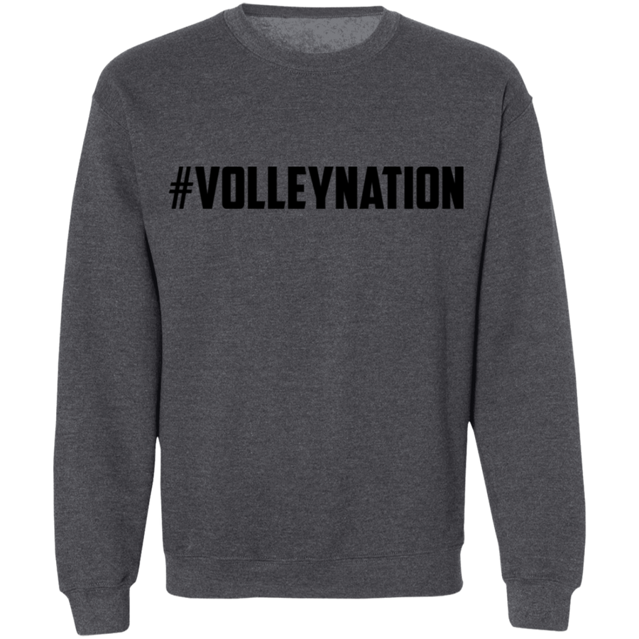 #VolleyNation Crewneck Pullover Sweatshirt  8 oz.