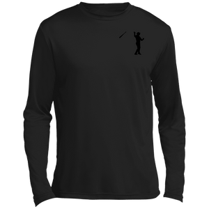 Bat Flip (Black) Long sleeve Moisture Absorbing T-Shirt