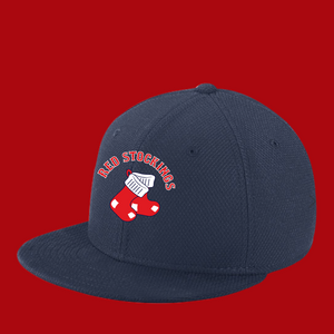 New Era Youth 39Thirty Official Red Stockings Flat Bill Snap